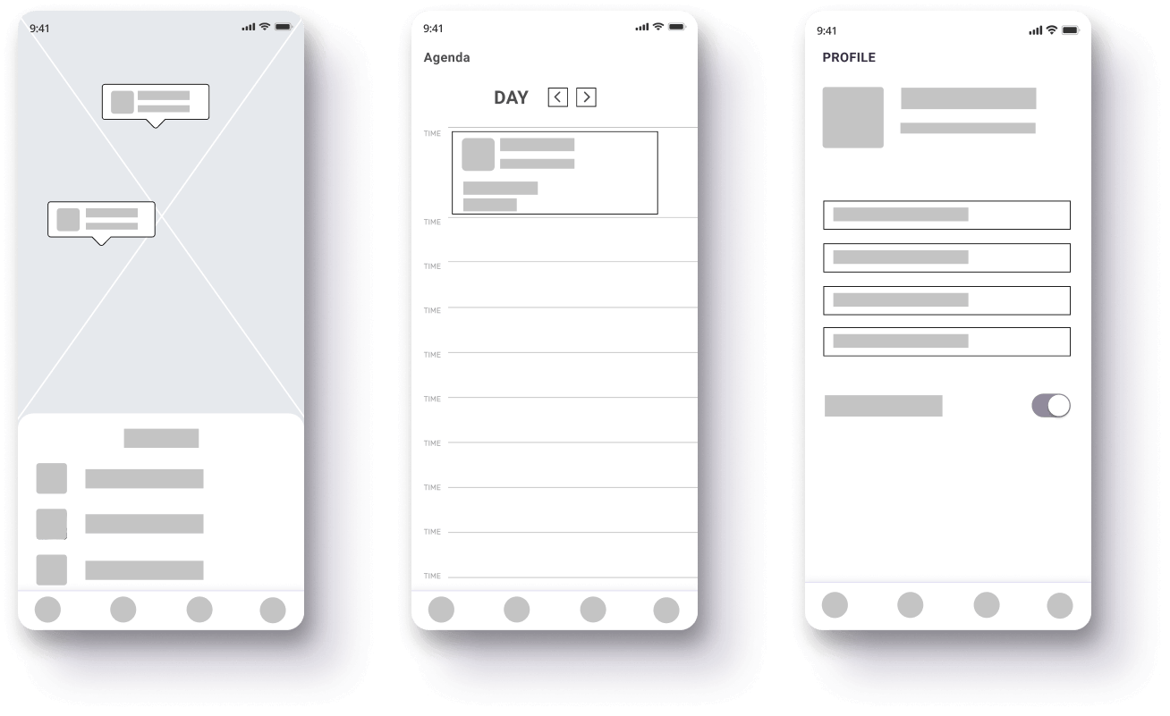 Low-fidelity wireframes allows ensuring UI/UX designers and coders share the same vision as a client.