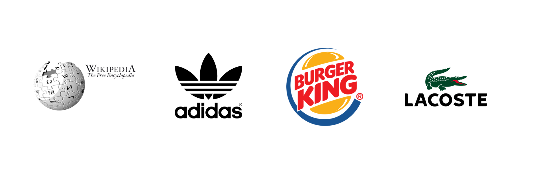 Combined Mark, Wikipedia, Adidas, Burger King, Lacoste