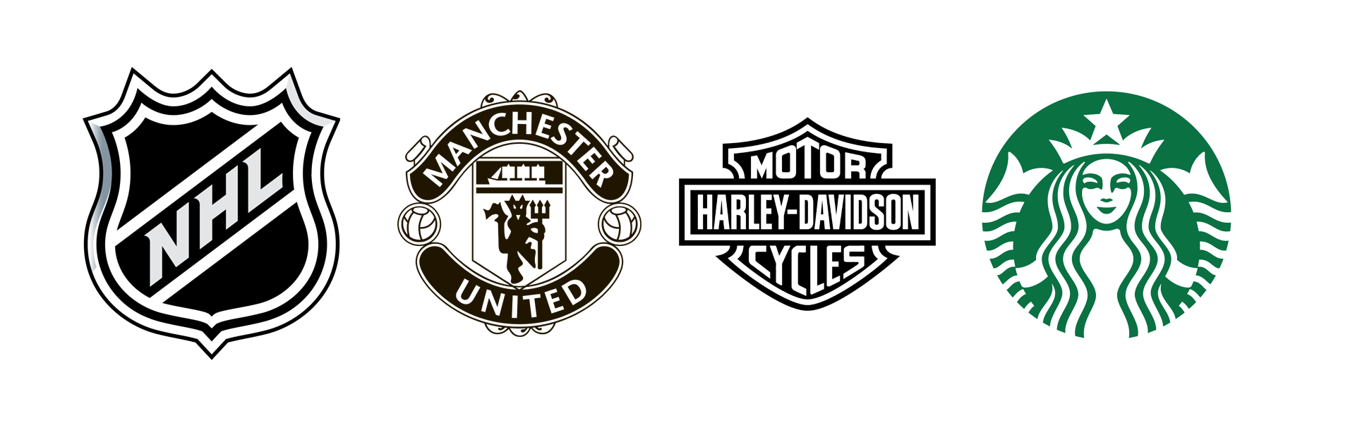 Emblem Logo, NHL, Manchester United, Harley-Davidson, Starbucks