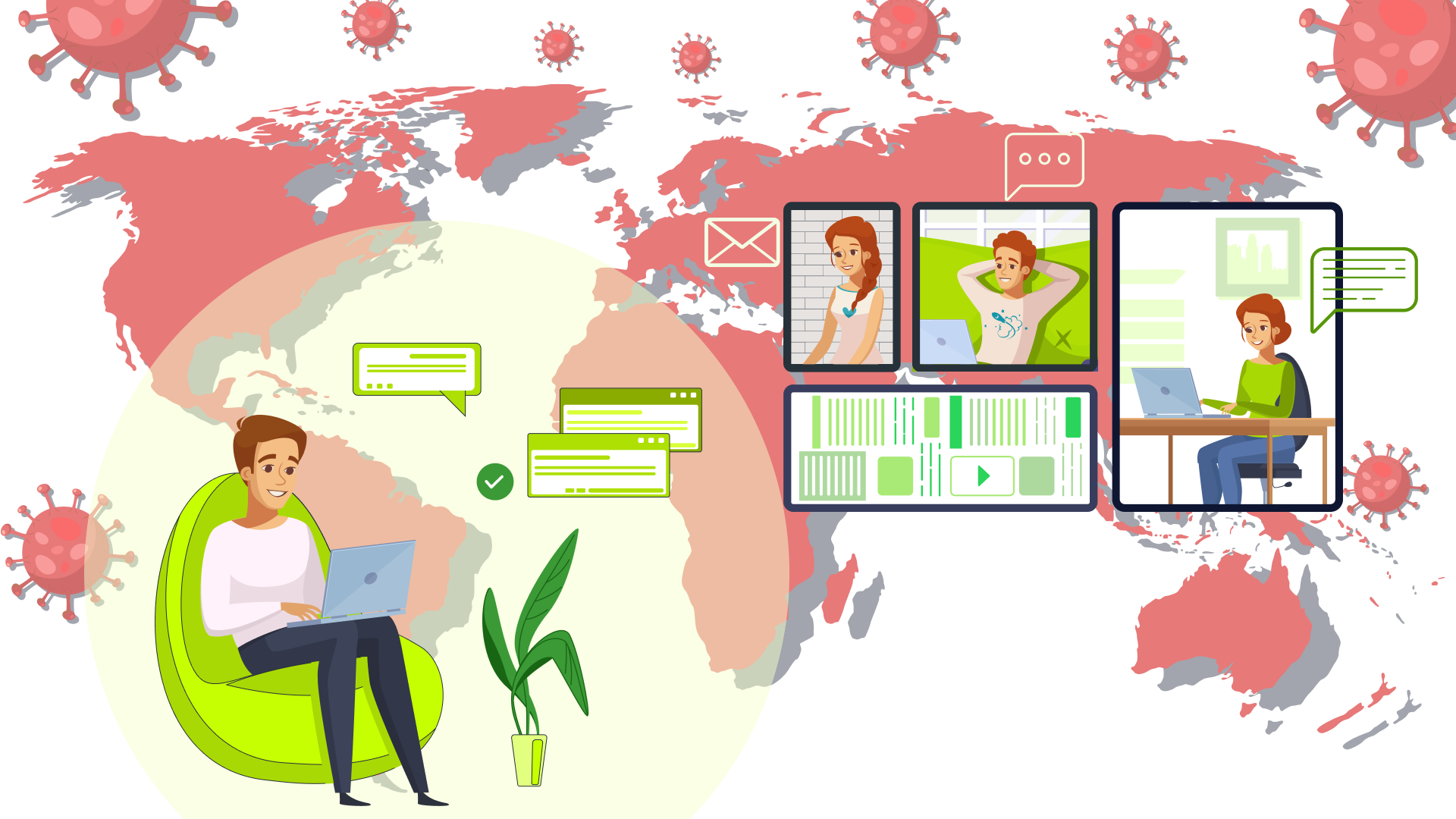 Online collaboration tools allow maintaining momentum in business.