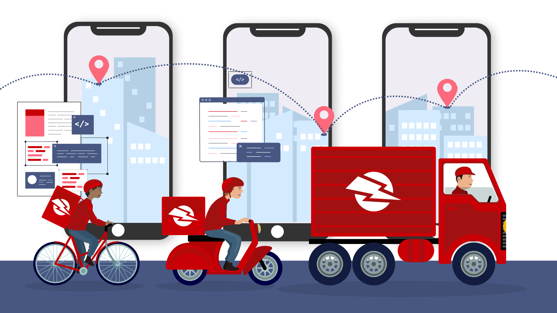 Fundamental feature set for creating your own last mile delivery app.