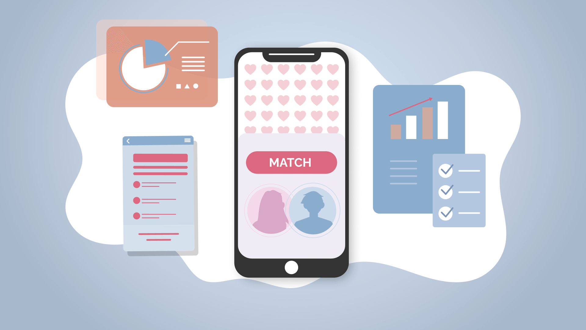 Online dating platforms' market share, tendencies, and trends.