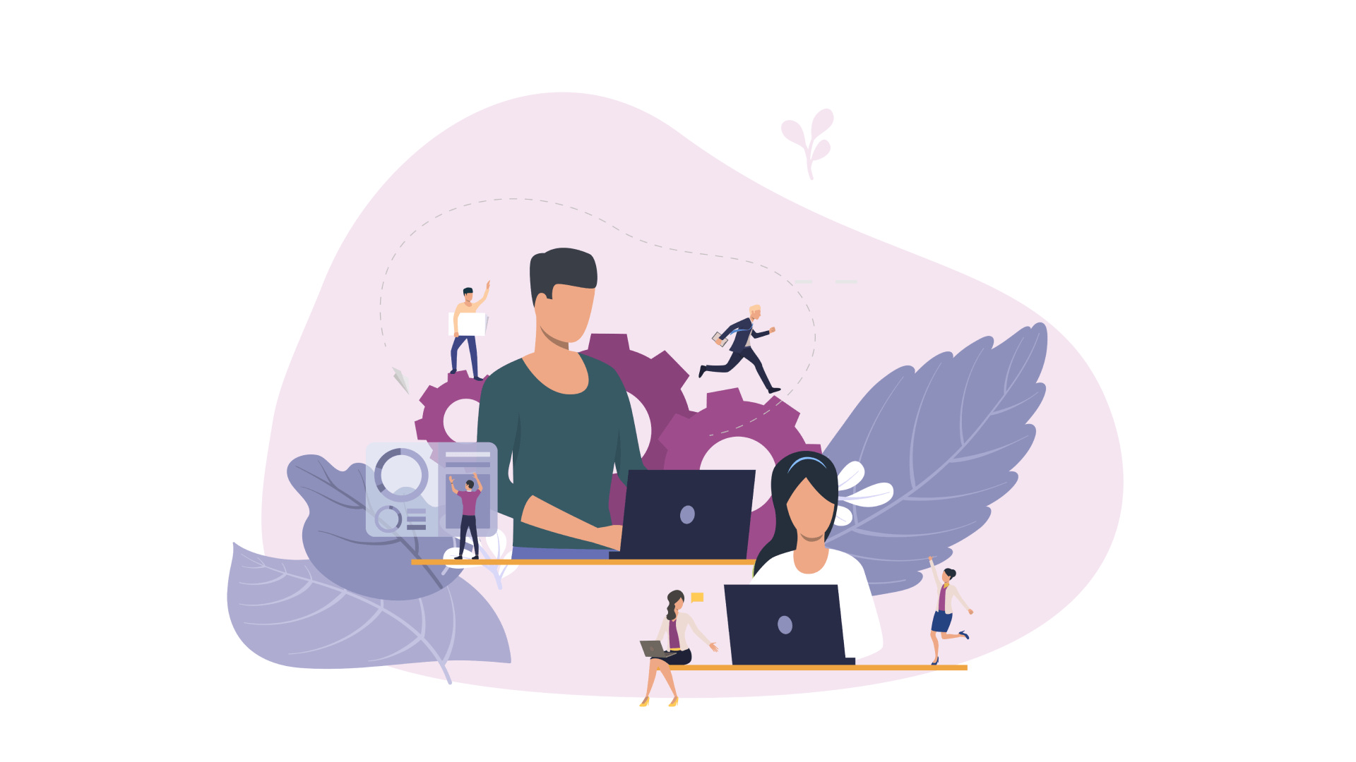 Different types of contractors that you may consider when working on a software solution: freelancers, in-house staff, and offshore developers.