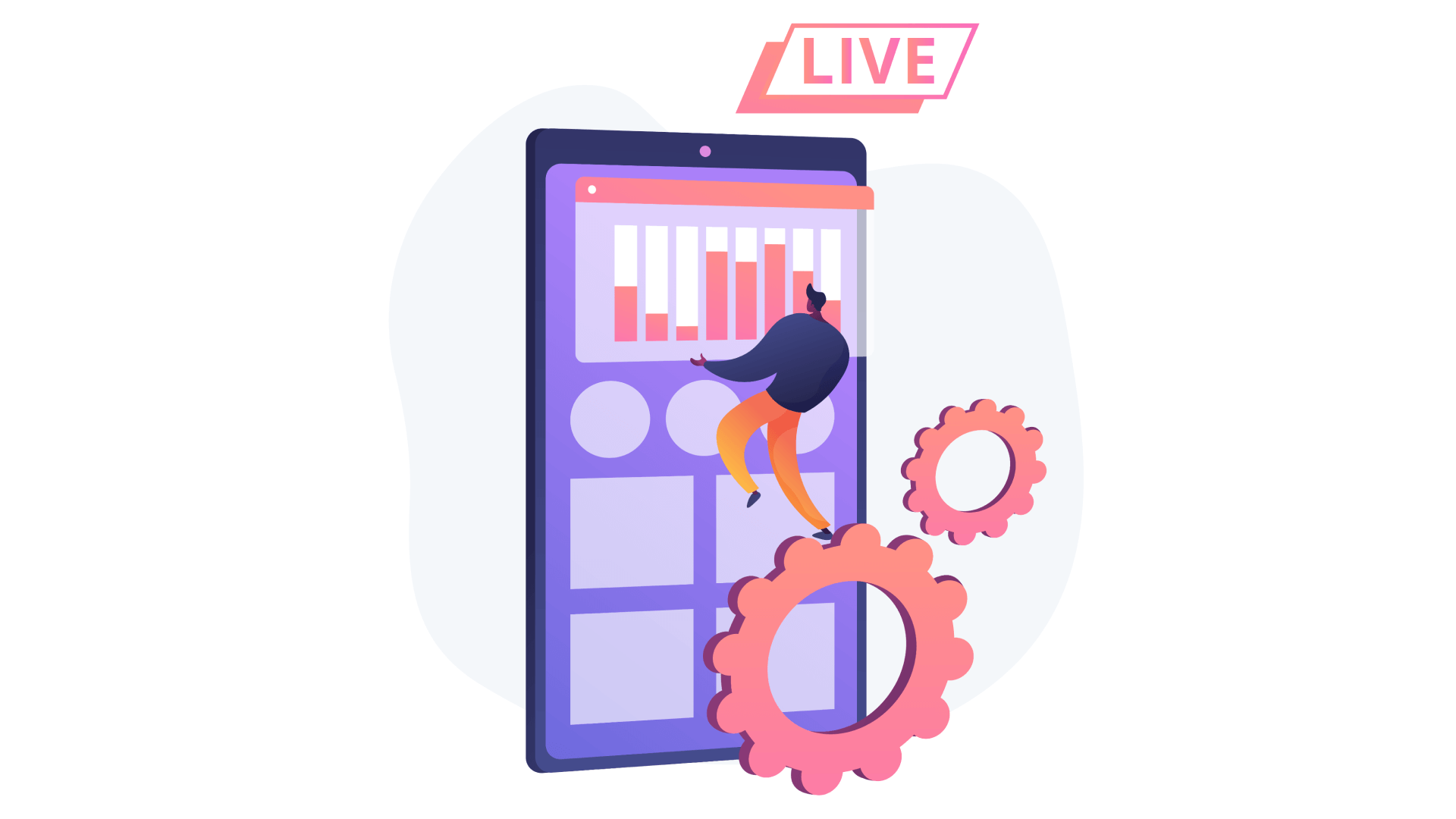 Each live streaming app requires a standard set of features that may be expanded depending on the app owner's business objectives.