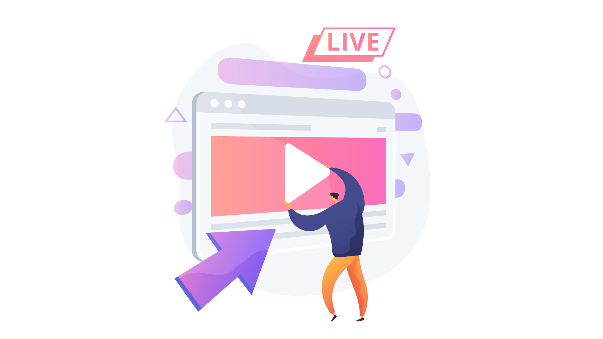 Live streaming apps allow users to broadcast video content to a wide audience.